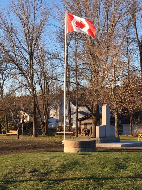 Cenotaph - Canadian flag