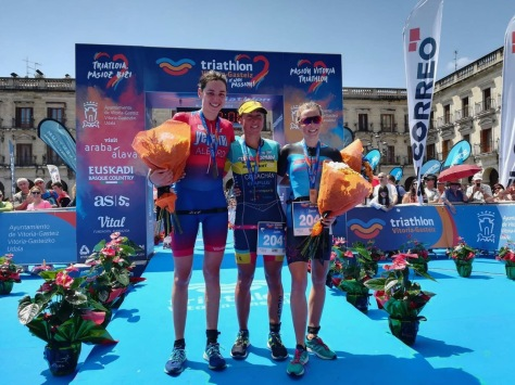 Sarah - on the podium in Spain