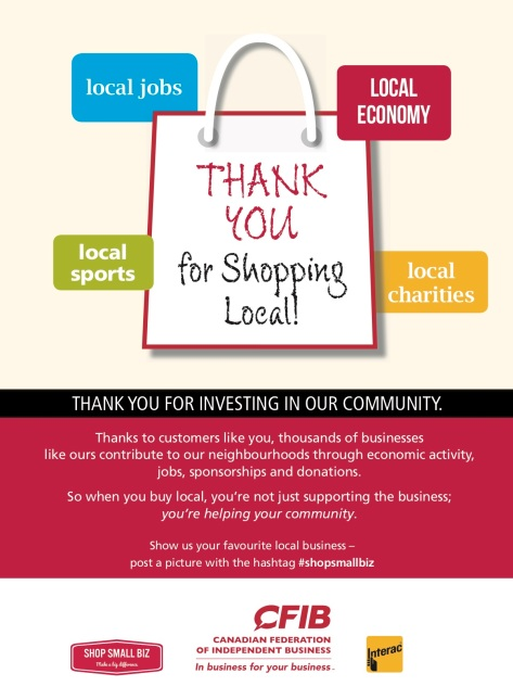 Shop Small Biz Thank You Poster