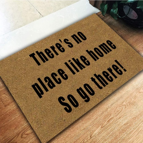COVID door mat