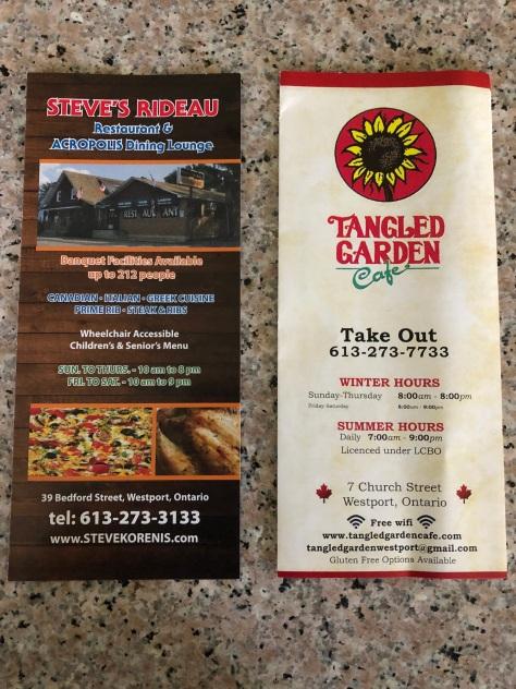 Steve's & TG menus