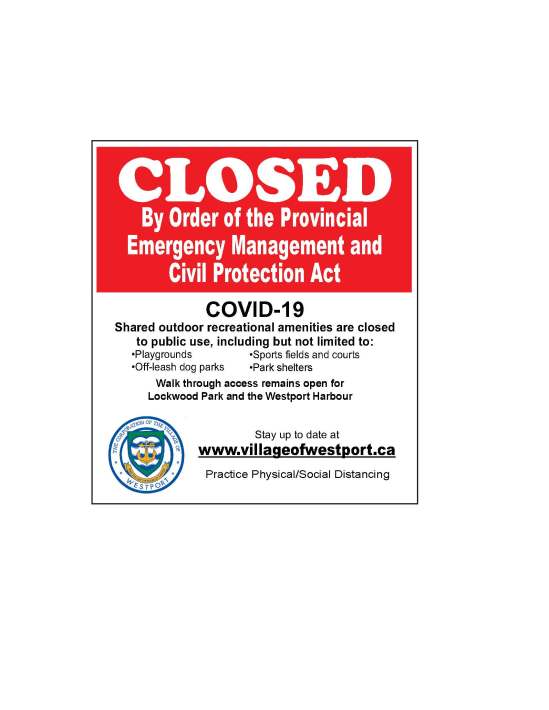 Westport parks closed jepg